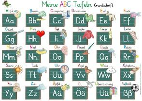 Meine ABC Tafeln in Grundschrift (von A-Z,Ä,Ö,Ü und ß) von Momm,  Helga