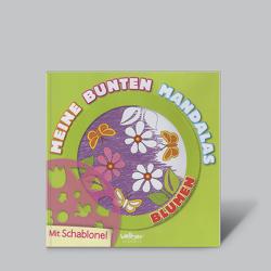 Meine bunten Mandalas – BLUMEN (mit Schablone) von Popovic Jovanovi´c,  Olivera