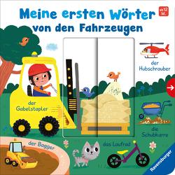 Meine ersten Wörter von den Fahrzeugen – Sprechen lernen mit großen Schiebern und Sachwissen für Kinder ab 12 Monaten von Frank,  Cornelia, Herring,  Carol, Hinton,  Steph