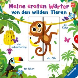 Meine ersten Wörter von den wilden Tieren – Sprechen lernen mit großen Schiebern und Sachwissen für Kinder ab 12 Monaten von Rulff,  Mila, Scott,  Matthew