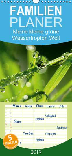 Meine kleine grüne Wassertropfen Welt – Familienplaner hoch (Wandkalender 2019 , 21 cm x 45 cm, hoch) von Siebenhühner,  Gabi