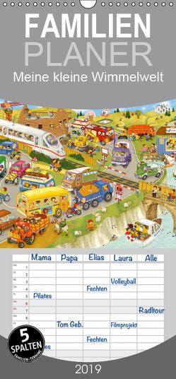 Meine kleine Wimmelwelt – Familienplaner hoch (Wandkalender 2019 , 21 cm x 45 cm, hoch) von Kraetschmer,  Marion