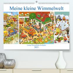 Meine kleine Wimmelwelt (Premium, hochwertiger DIN A2 Wandkalender 2021, Kunstdruck in Hochglanz) von Kraetschmer,  Marion