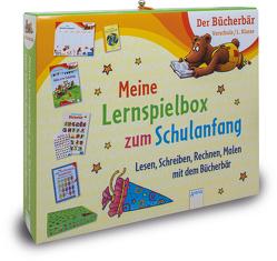 Meine Lernspielbox zum Schulanfang von Bertrand,  Fréderic, Jäger,  Katja, Nahrgang,  Frauke, Rosengarten,  Johannes, Schäfer,  Carola, Simon,  Sabine