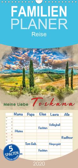Meine Liebe – Toskana – Familienplaner hoch (Wandkalender 2020 , 21 cm x 45 cm, hoch) von Roder,  Peter