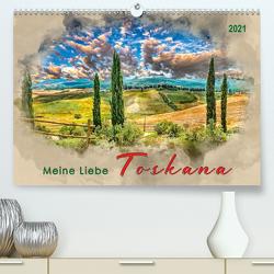 Meine Liebe – Toskana (Premium, hochwertiger DIN A2 Wandkalender 2021, Kunstdruck in Hochglanz) von Roder,  Peter