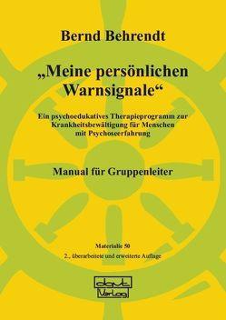 """""""Meine persönlichen Warnsignale"""" von Behrendt,  Bernd"""