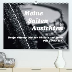 Meine Saiten Ansichten – Banjo, Gitarre, Klavier, Ukulele und Zitter von Ulrike SSK (Premium, hochwertiger DIN A2 Wandkalender 2021, Kunstdruck in Hochglanz) von SSK,  Ulrike