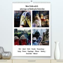 Meine Schuhe und ich unterwegs von Hamburg bis Amsterdam (Premium, hochwertiger DIN A2 Wandkalender 2020, Kunstdruck in Hochglanz) von aplowski,  andrea
