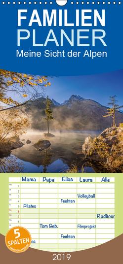Meine Sicht der Alpen – Familienplaner hoch (Wandkalender 2019 , 21 cm x 45 cm, hoch) von van Hauten,  Markus