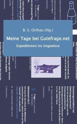 Meine Tage bei Gutefrage.net von Orthau,  B. S.