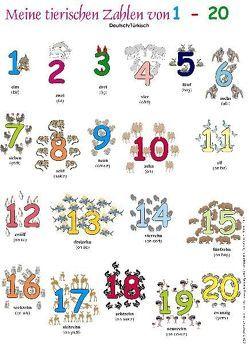 Meine tierischen Zahlen von 1-20. Poster von Momm-Zach,  Helga