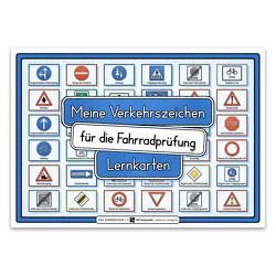 Meine Verkehrszeichen für die Fahrradprüfung- mit den neuen Verkehrszeichen