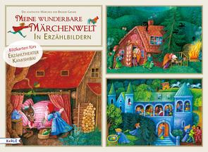 Meine wunderbare Märchenwelt in Erzählbildern von Bedrischka-Bös,  Barbara, Grimm,  Jacob, Grimm,  Wilhelm, Stiefenhofer,  Martin