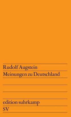 Meinungen zu Deutschland von Augstein,  Rudolf