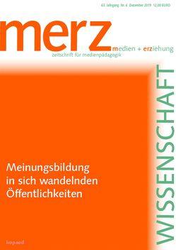 Meinungsbildung in sich wandelnden Öffentlichkeiten von Demmler,  Kathrin, Schorb,  Bernd