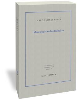 Meinungsverschiedenheiten von Weber,  Marc Andree