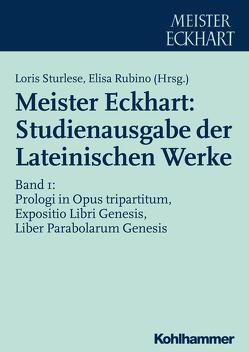 Meister Eckhart: Studienausgabe der Lateinischen Werke von Rubino,  Elisa, Sturlese,  Loris