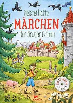 Meisterhafte Märchen der Brüder Grimm, mit MP3-CD von Grimm,  Jacob und Wilhelm, Lauber,  Larisa, Reh,  Rusalka