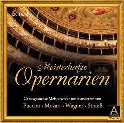 Meisterhafte Opernarien von Hänssler,  Günter, Mozart,  Wolfgang Amadeus, Puccini,  Giacomo, Strauss,  Johann, Wagner,  Richard