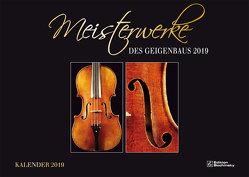 Meisterwerke des Geigenbaus Kalender 2019