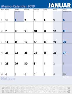 Memo-Kalender 2019 von Korsch Verlag