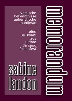memorandum von LANDON,  Sabine