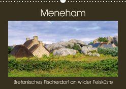 Meneham – Bretonisches Fischerdorf an wilder Felsküste (Wandkalender 2018 DIN A3 quer) von LianeM,  k.A.