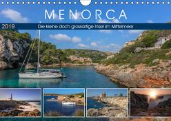 Menorca, die kleine doch grossartige Insel im Mittelmeer (Wandkalender 2019 DIN A4 quer) von Kruse,  Joana