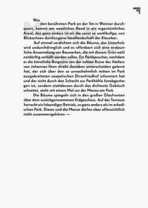 Mensa am Park von Angermann,  Kirsten, Bach,  Claus, Dahl,  Tobias, Falbe,  Dina Dorothea, Fritz,  Moritz, Gründer,  Anika, Kirfel,  Florian, Photographers,  Schmott, Winkelmann,  Arne