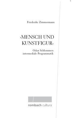 """""""Mensch und Kunstfigur"""" von Zimmermann,  Friederike"""