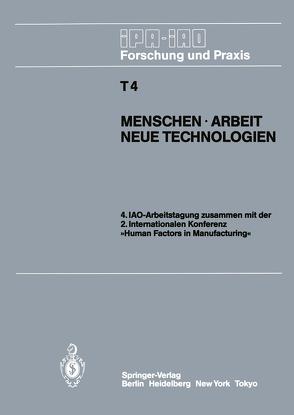 Menschen · Arbeit Neue Technologien von Bullinger,  H.-J.