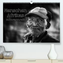Menschen Afrikas schwarzweiß (Premium, hochwertiger DIN A2 Wandkalender 2020, Kunstdruck in Hochglanz) von Voss,  Michael