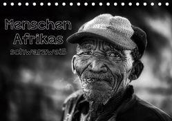 Menschen Afrikas schwarzweiß (Tischkalender 2019 DIN A5 quer) von Voss,  Michael
