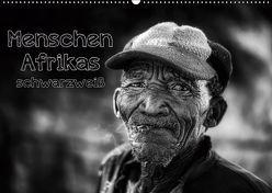 Menschen Afrikas schwarzweiß (Wandkalender 2019 DIN A2 quer) von Voss,  Michael