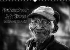 Menschen Afrikas schwarzweiß (Wandkalender 2019 DIN A3 quer) von Voss,  Michael