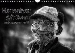 Menschen Afrikas schwarzweiß (Wandkalender 2019 DIN A4 quer) von Voss,  Michael