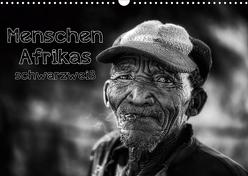 Menschen Afrikas schwarzweiß (Wandkalender 2020 DIN A3 quer) von Voss,  Michael