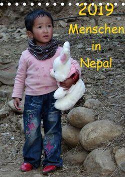 Menschen in NepalAT-Version (Tischkalender 2019 DIN A5 hoch) von Ecker,  Johann