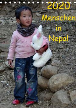 Menschen in NepalAT-Version (Tischkalender 2020 DIN A5 hoch) von Ecker,  Johann