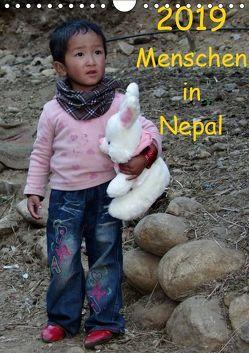 Menschen in NepalAT-Version (Wandkalender 2019 DIN A4 hoch) von Ecker,  Johann