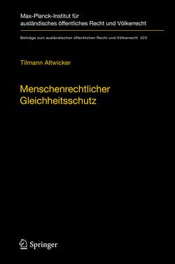 Menschenrechtlicher Gleichheitsschutz von Altwicker,  Tilmann