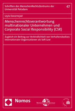 Menschenrechtsverantwortung multinationaler Unternehmen und Corporate Social Responsibility (CSR) von Davarnejad,  Leyla