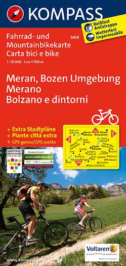 Meran, Bozen Umgebung – Merano, Bolzano e dintorni von KOMPASS-Karten GmbH