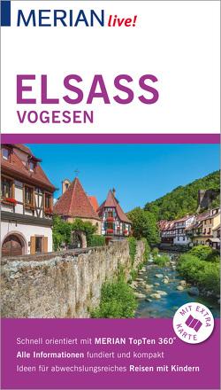 MERIAN live! Reiseführer Elsass Vogesen von Christoffel-Crispin,  Claudia, Crispin,  Gerhard