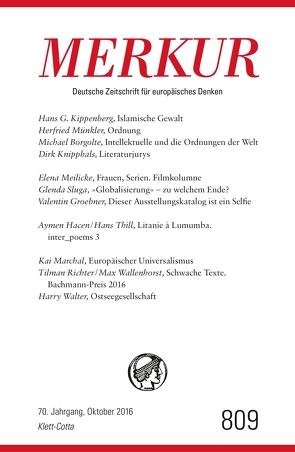 MERKUR Deutsche Zeitschrift für europäisches Denken – 2016-10 von Demand,  Christian