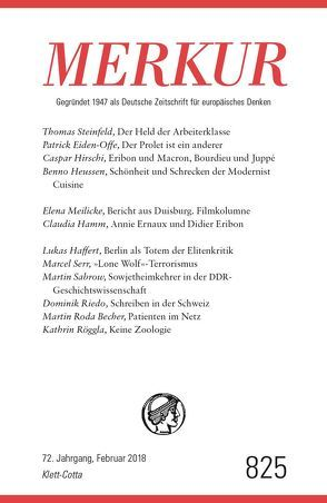 MERKUR Deutsche Zeitschrift für europäisches Denken – 2018-02 von Demand,  Christian