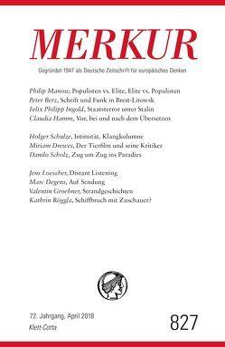 MERKUR Deutsche Zeitschrift für europäisches Denken – 2018-04 von Demand,  Christian