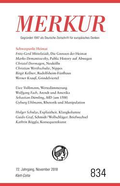 MERKUR Gegründet 1947 als Deutsche Zeitschrift für europäisches Denken – 2018-11 von Demand,  Christian