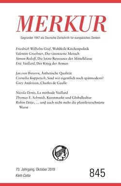 MERKUR Gegründet 1947 als Deutsche Zeitschrift für europäisches Denken – 2019-10 von Demand,  Christian